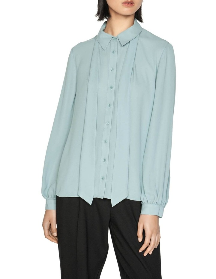 Blouson Sleeve Shirt with Neck Tie image 2