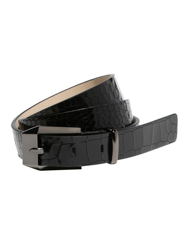 Black Croc Hip Belt image 1
