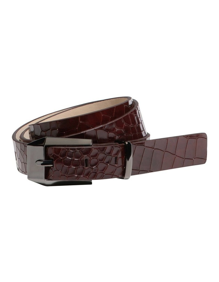 Burgundy Croc Hip Belt image 1