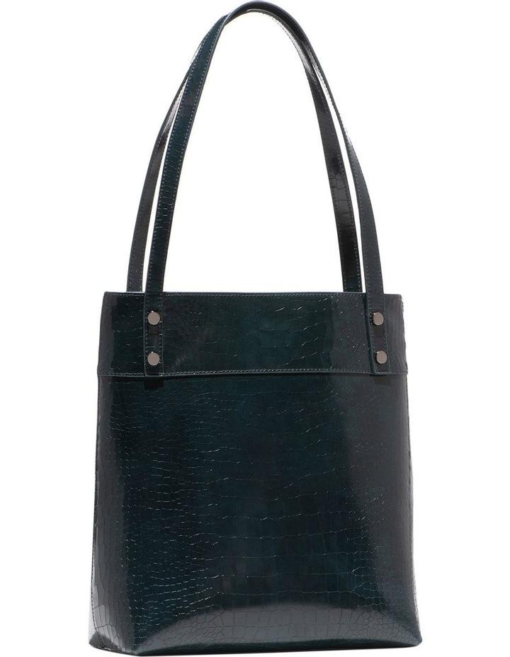 Dark Teal Croc Tote Bag image 1