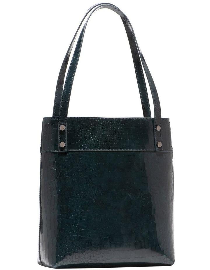 Dark Teal Croc Tote Bag image 2