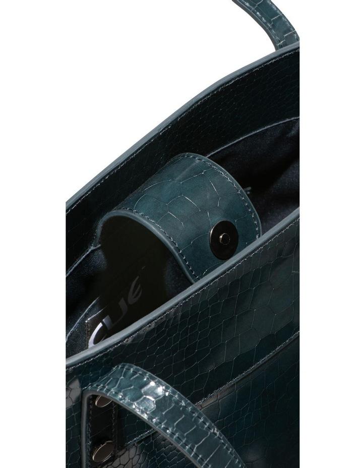 Dark Teal Croc Tote Bag image 3