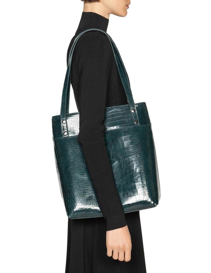Dark Teal Croc Tote Bag image 4
