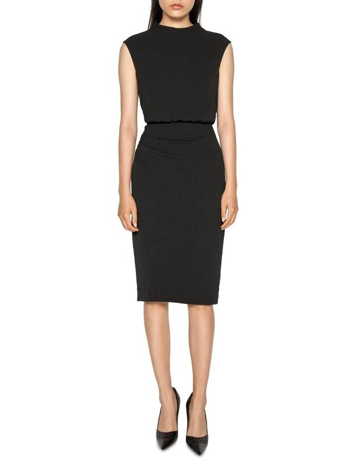 Draped Skirt Funnel Neck Dress image 1