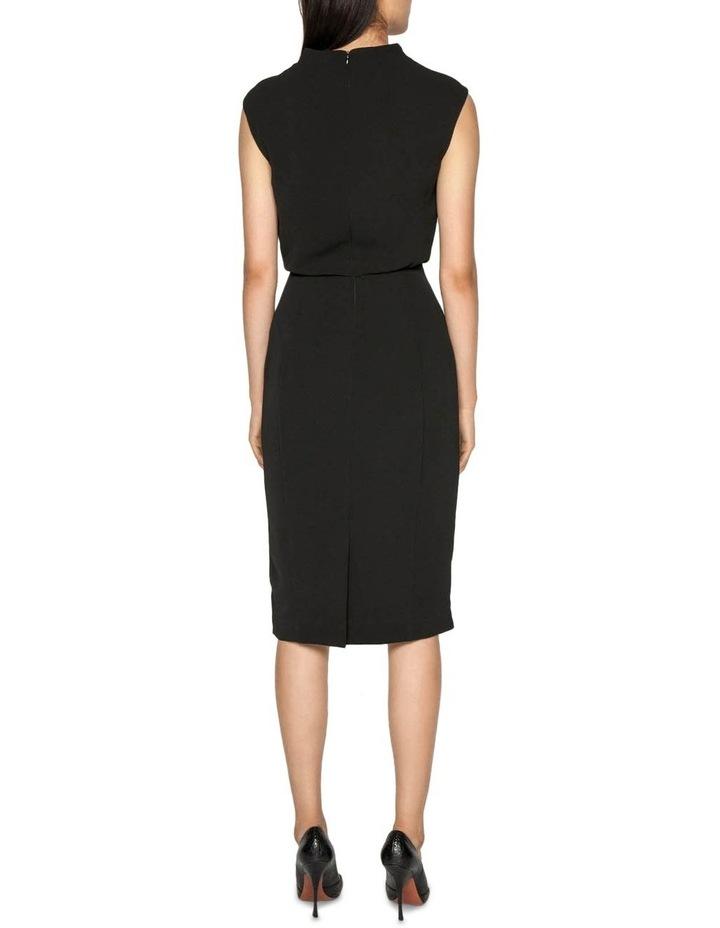 Draped Skirt Funnel Neck Dress image 3
