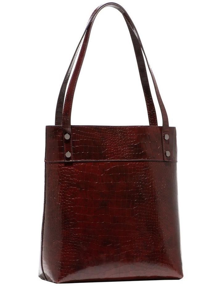 Burgundy Croc Tote Bag image 2