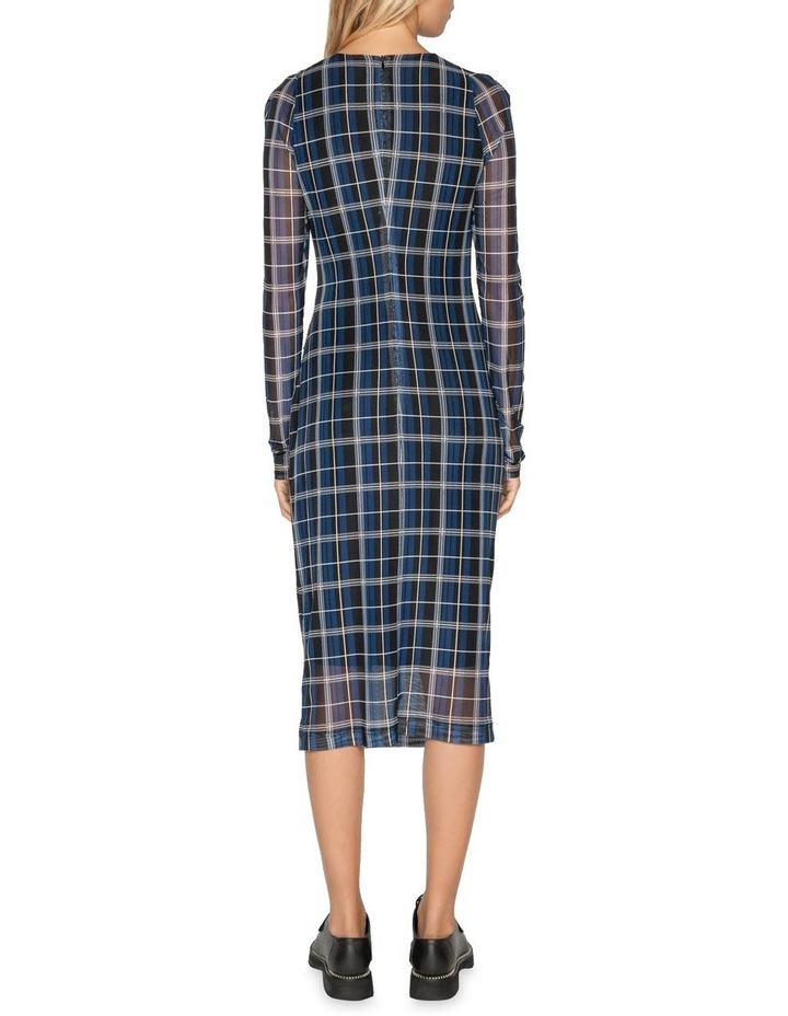 Check Mesh Pencil Dress image 3