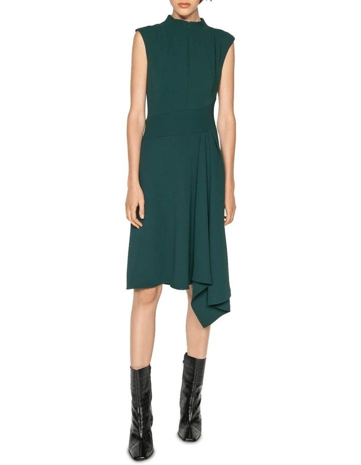 Crepe Funnel Neck Dress image 1
