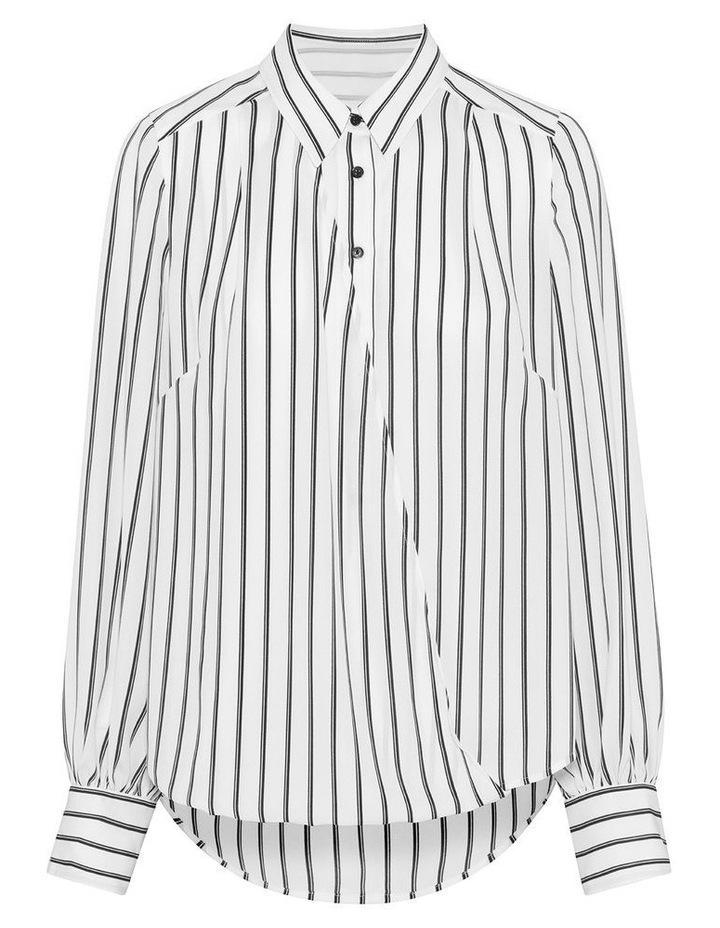 Double Stripe Asymmetric Shirt image 4
