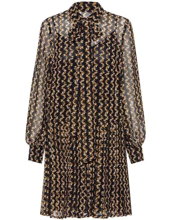 Monogram Chain Shirt Dress image 4