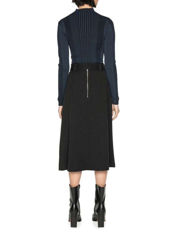Belted Twill Midi Skirt image 3