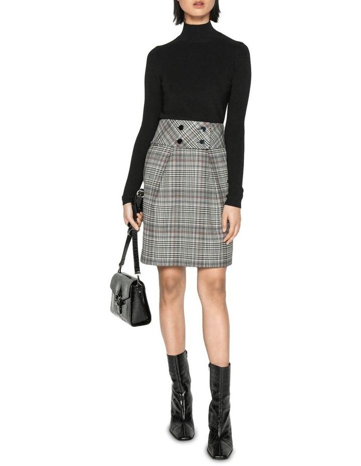 Wool Blend Check Tulip Skirt image 1
