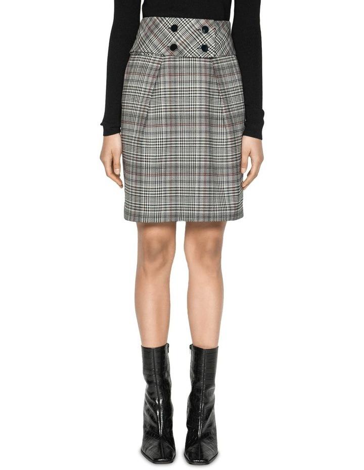 Wool Blend Check Tulip Skirt image 2