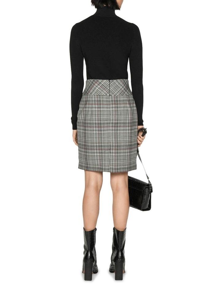 Wool Blend Check Tulip Skirt image 3