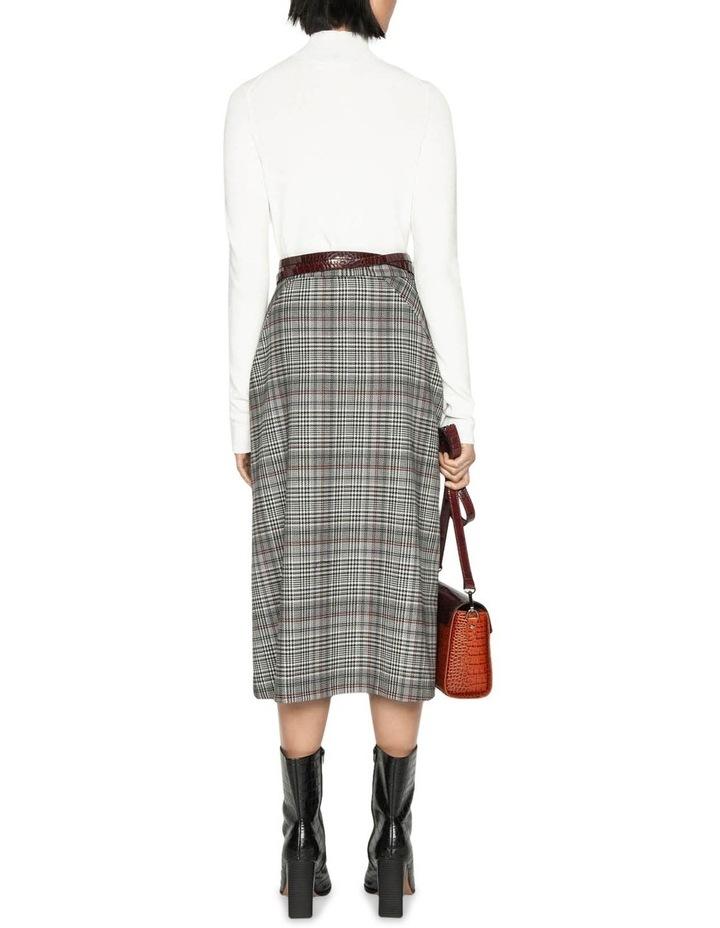 Wool Blend Check Asymmetric Skirt image 3