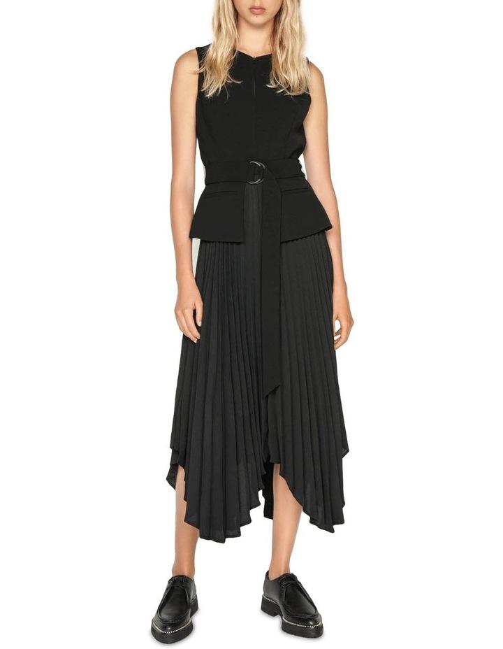 Pleated Asymmetric Hem Dress image 1