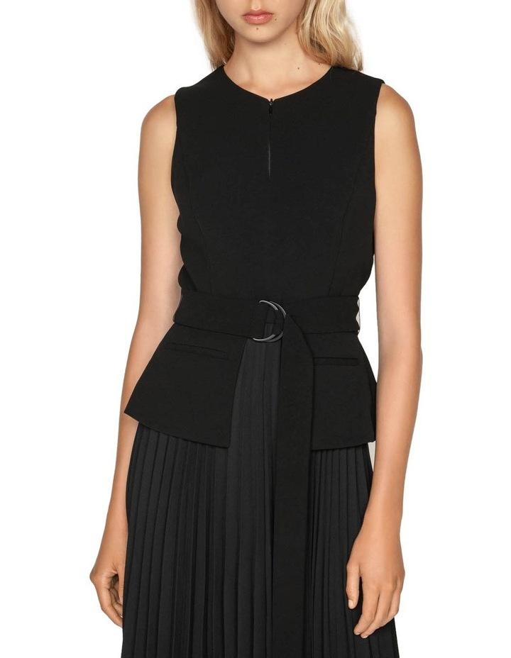 Pleated Asymmetric Hem Dress image 2
