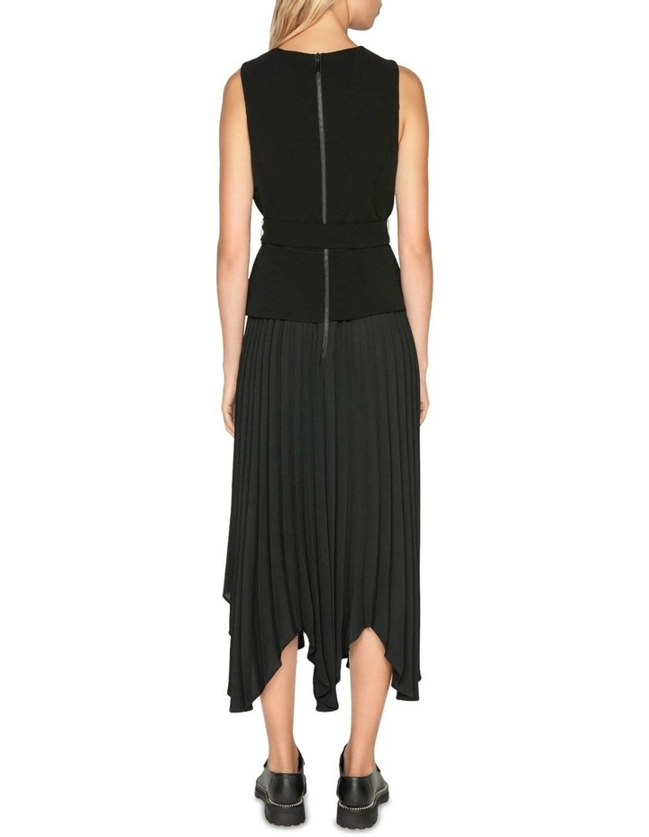 Pleated Asymmetric Hem Dress image 3