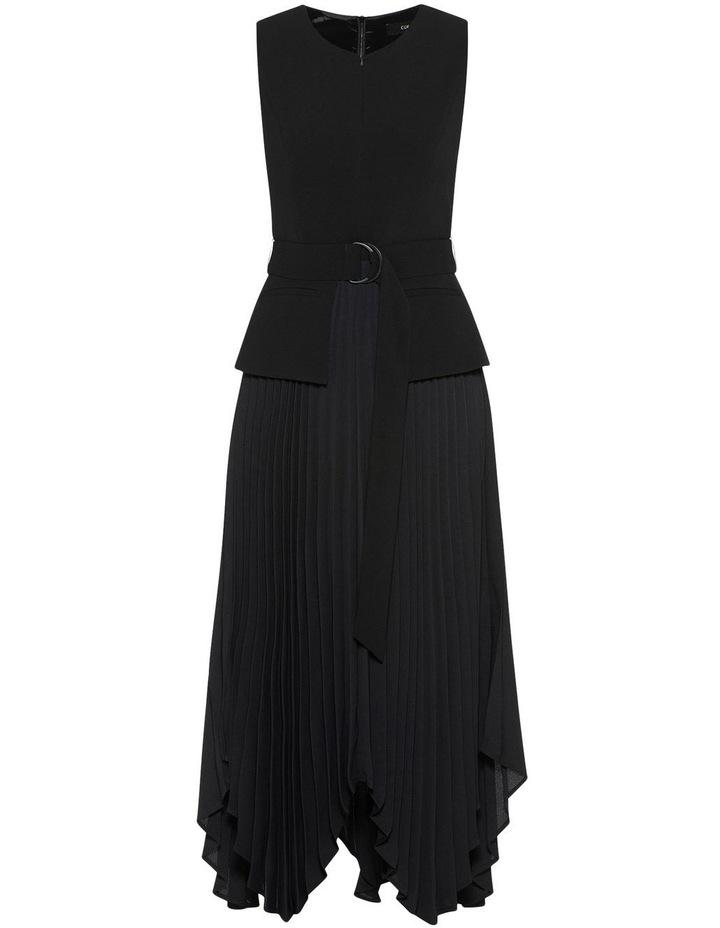 Pleated Asymmetric Hem Dress image 4