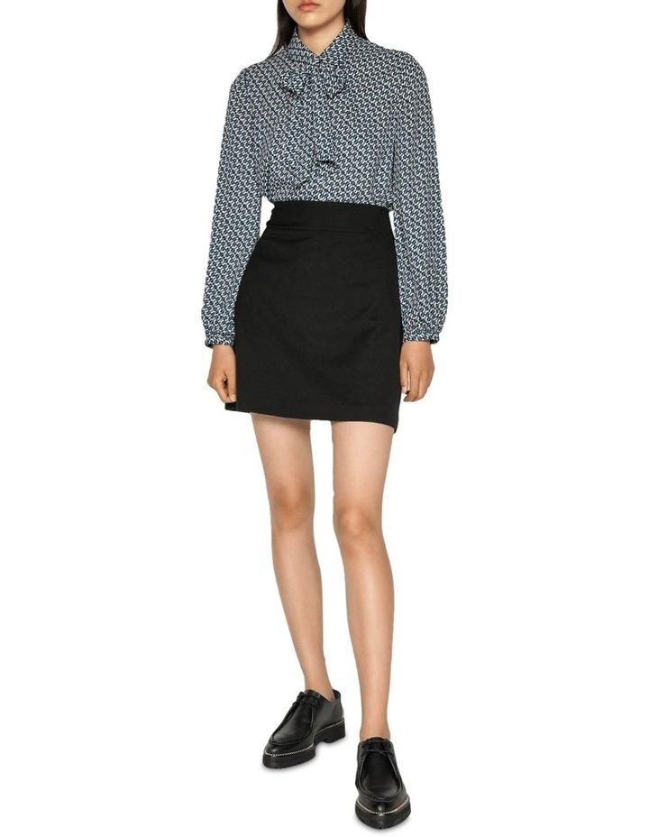 Textured Twill Mini Skirt image 1