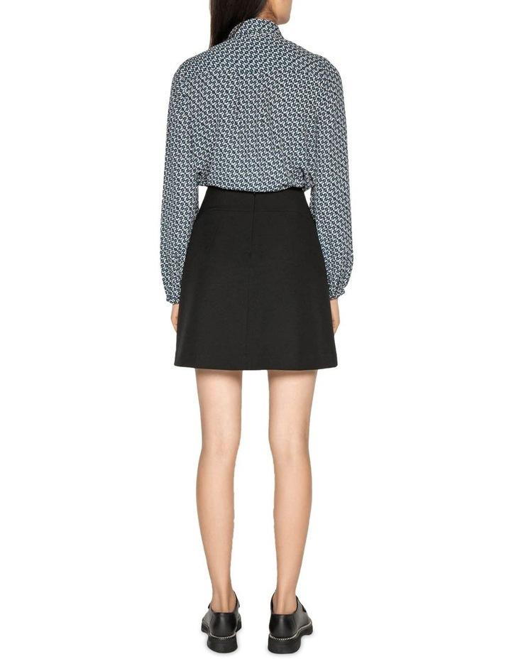 Textured Twill Mini Skirt image 3