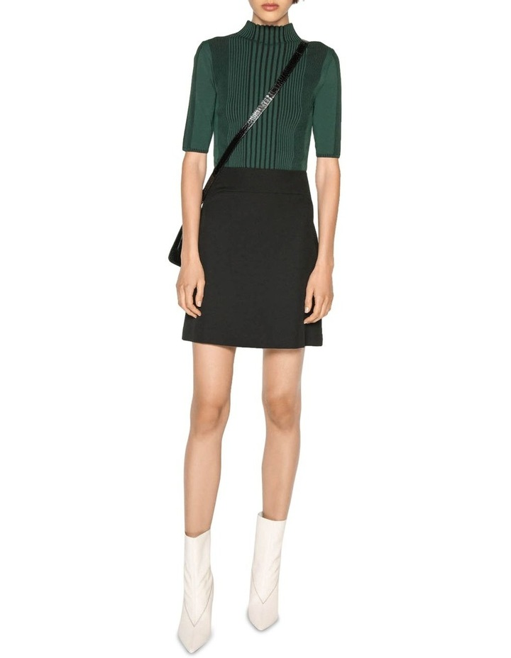 Textured Twill Mini Skirt image 4