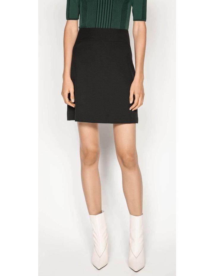 Textured Twill Mini Skirt image 5