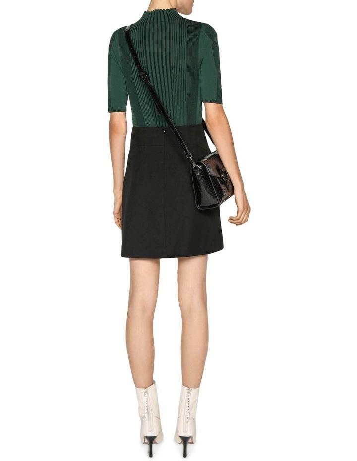Textured Twill Mini Skirt image 6