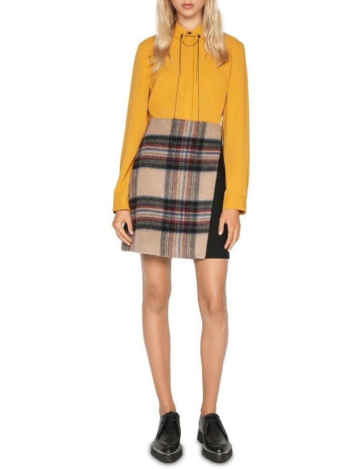 Plaid Wool Mini Skirt image 1