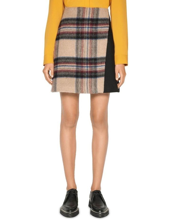 Plaid Wool Mini Skirt image 2