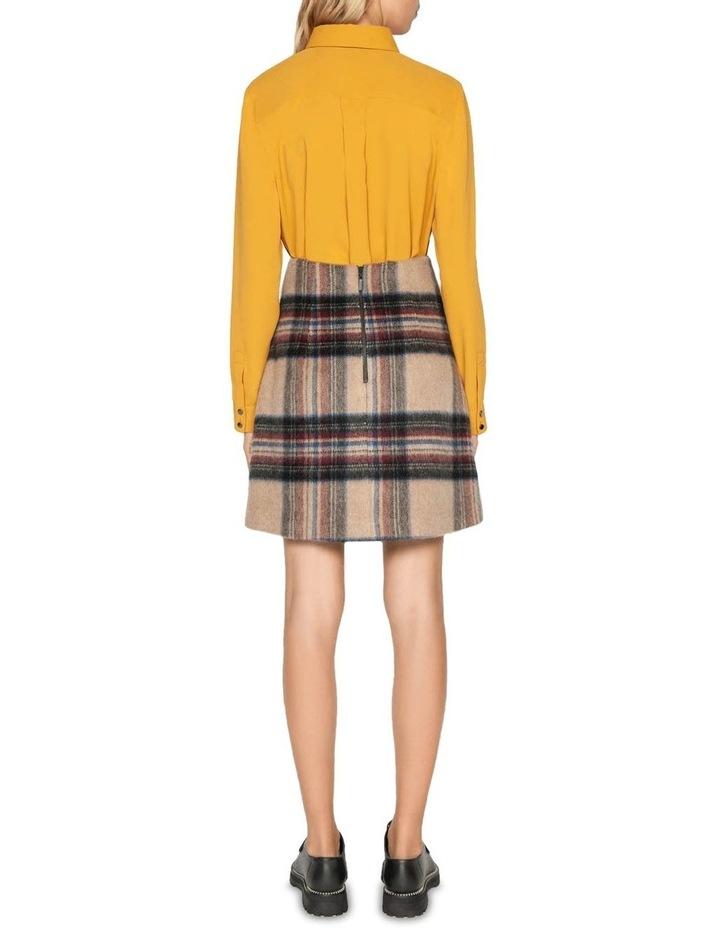 Plaid Wool Mini Skirt image 3