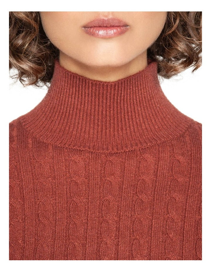 Funnel Neck Cable Sweater image 4