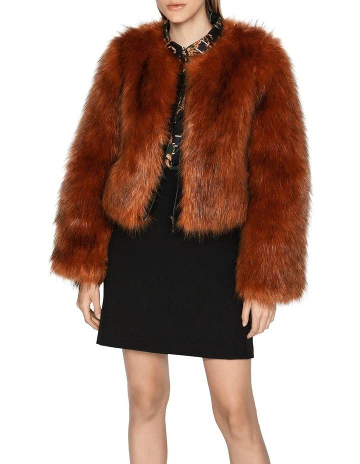 Copper Faux Fur Jacket image 2
