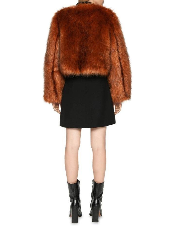 Copper Faux Fur Jacket image 3