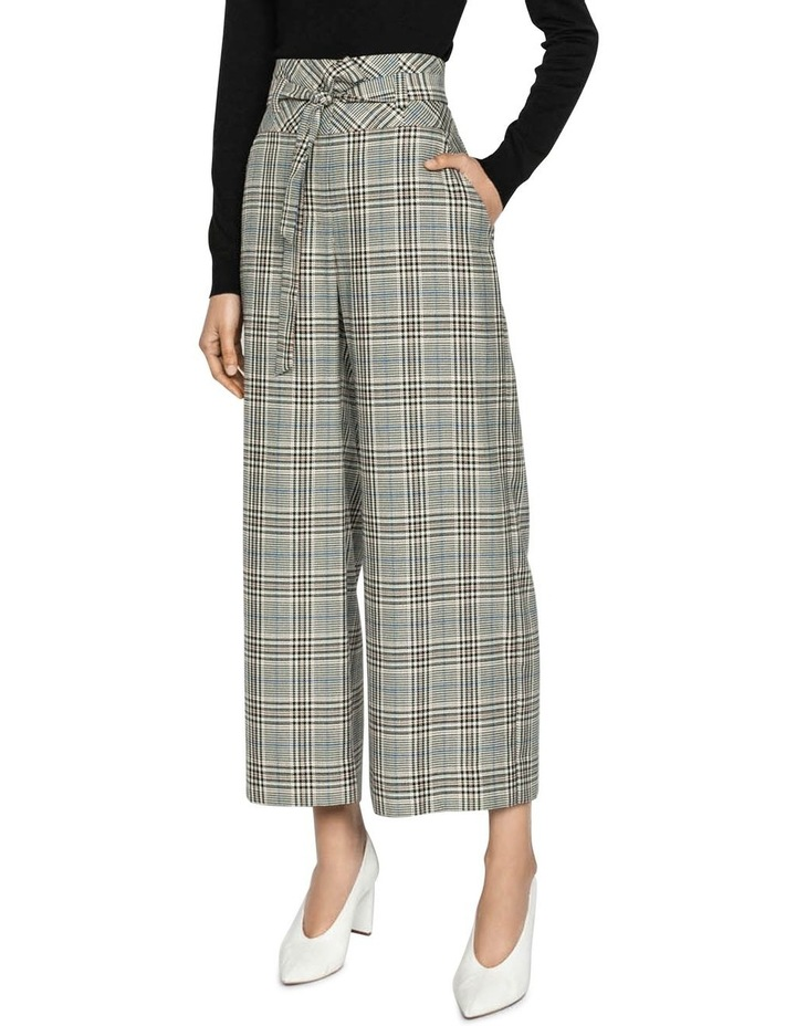Belted Cropped Wide Leg Pant image 1