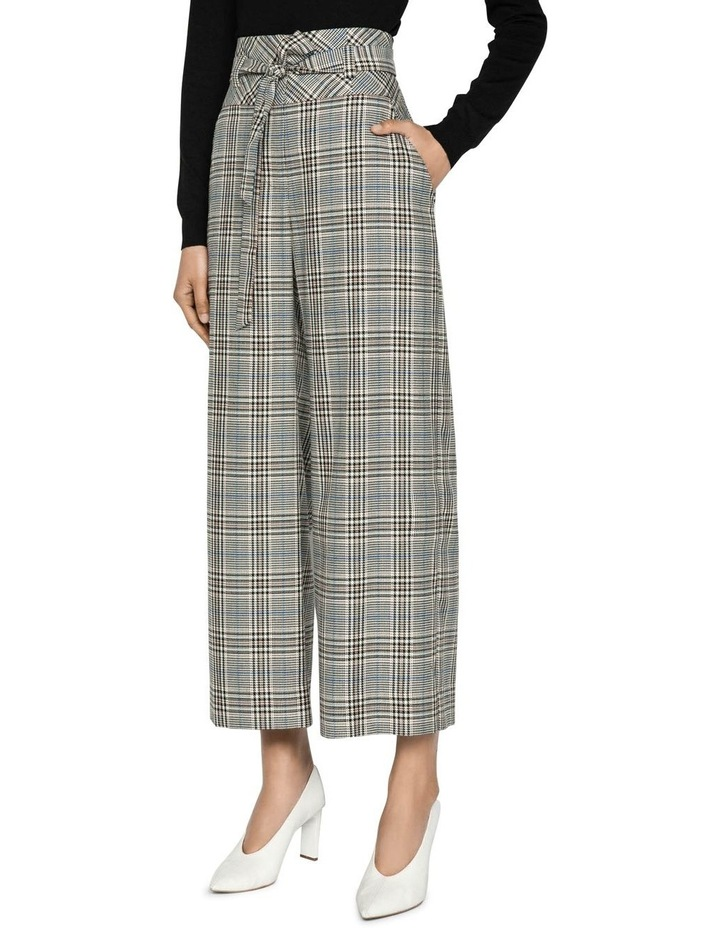 Belted Cropped Wide Leg Pant image 2