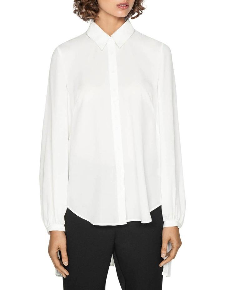 Pleated Long Sleeve Blouse image 2