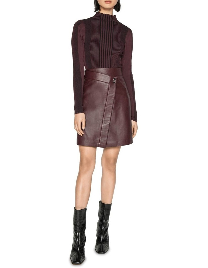 Leather Wrap Front Skirt image 1