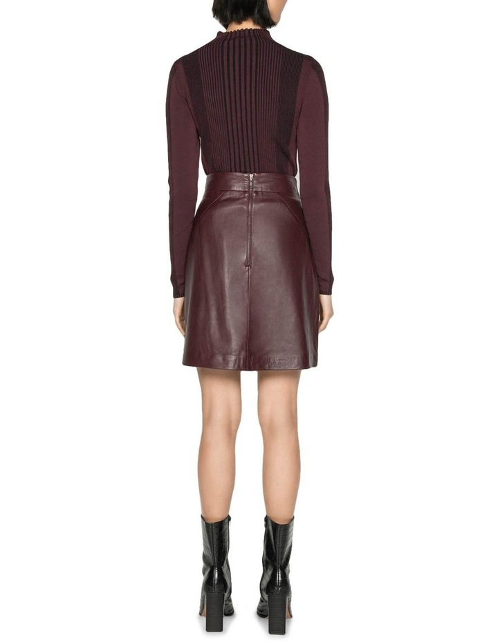 Leather Wrap Front Skirt image 3