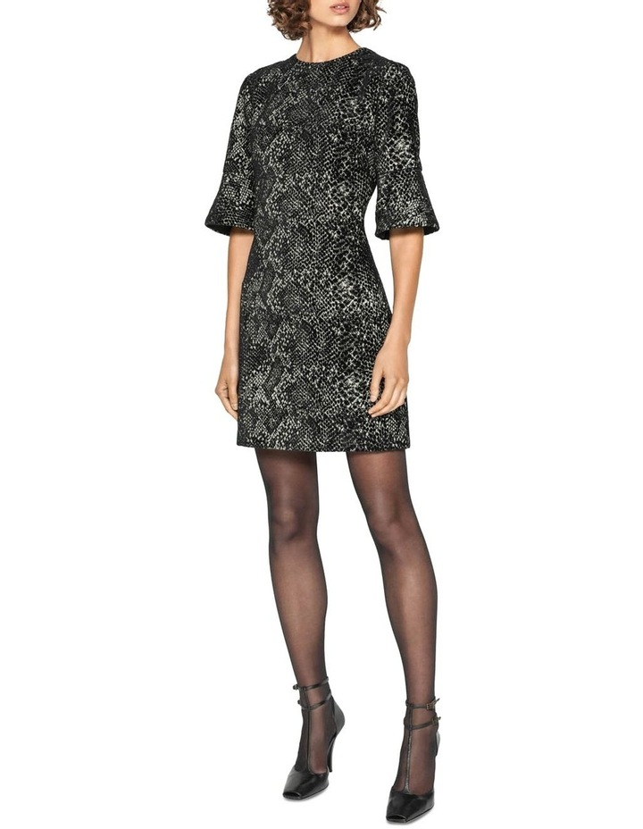 Animal Chenille Jacquard Shift Dress image 1
