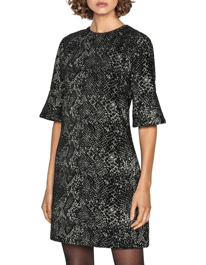 Animal Chenille Jacquard Shift Dress image 2