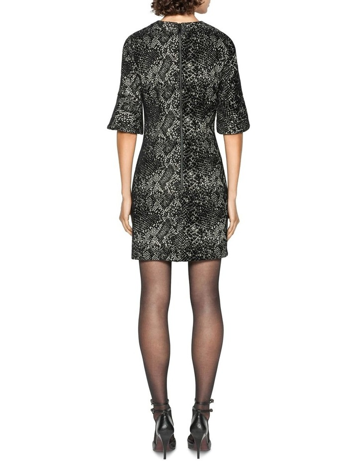 Animal Chenille Jacquard Shift Dress image 3