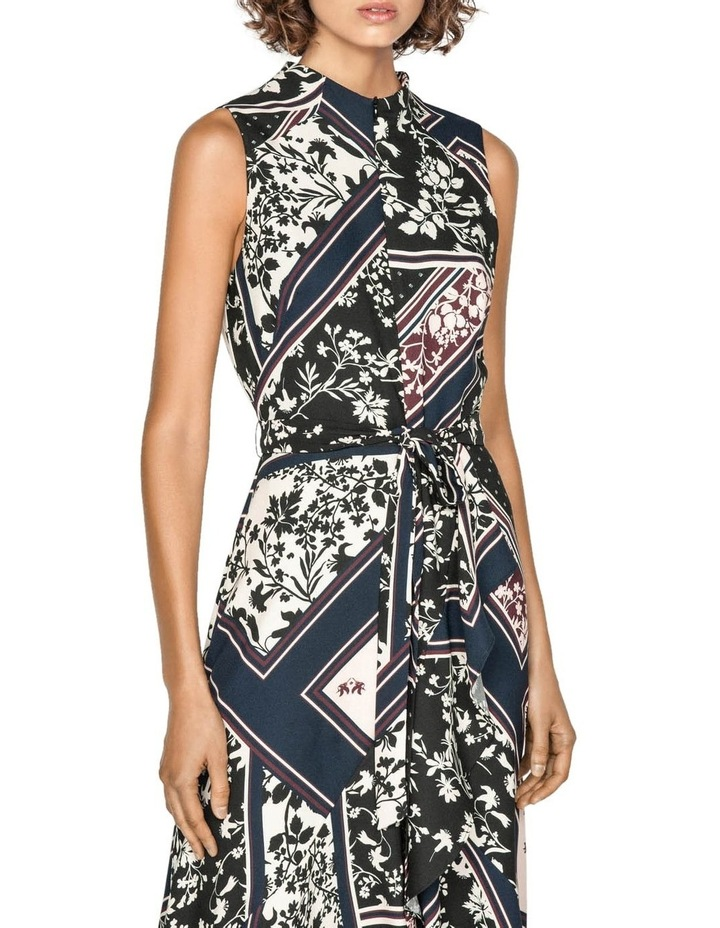 Scarf Print Longline Frill Dress image 2
