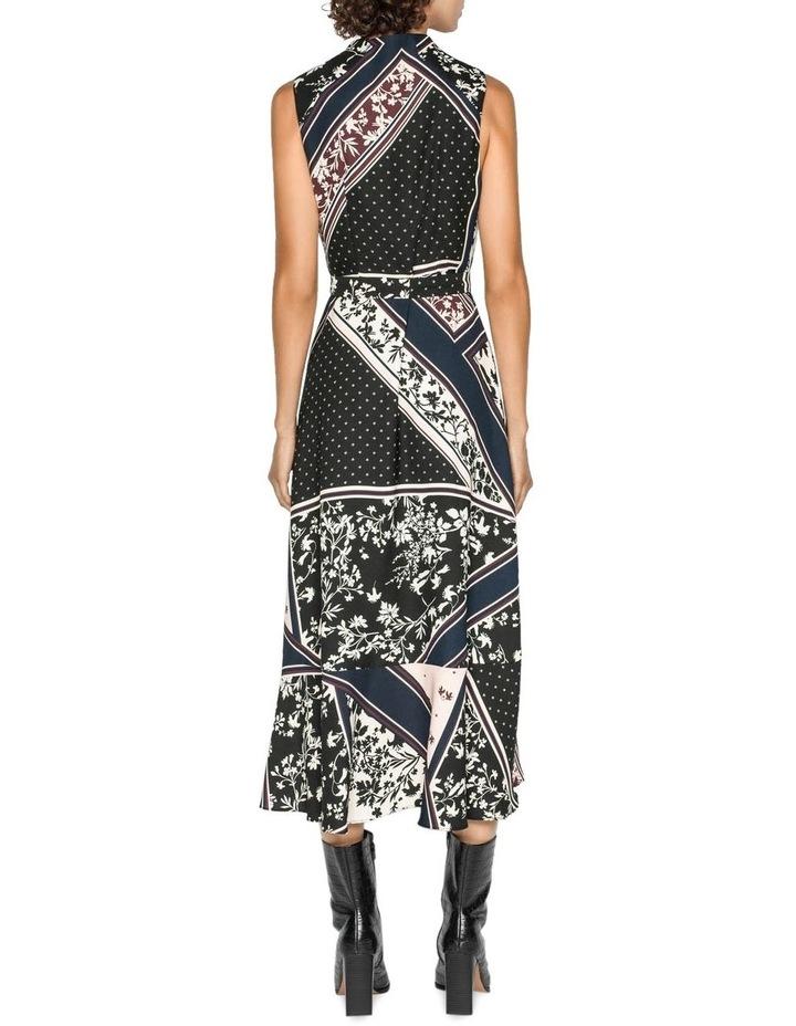 Scarf Print Longline Frill Dress image 3