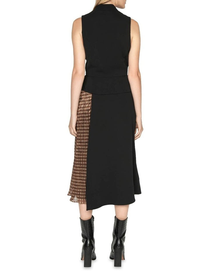 Spliced Metallic Check Wrap Dress image 3