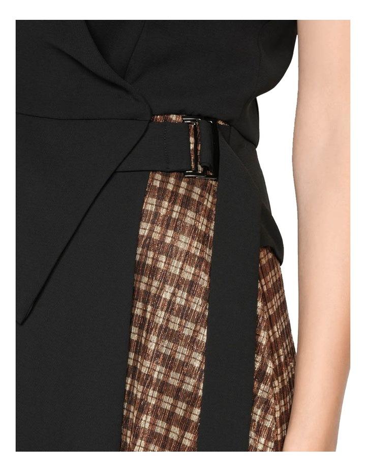Spliced Metallic Check Wrap Dress image 4