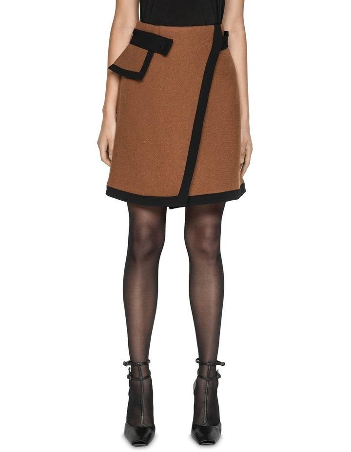 Cinnamon Twill Mini Skirt image 1
