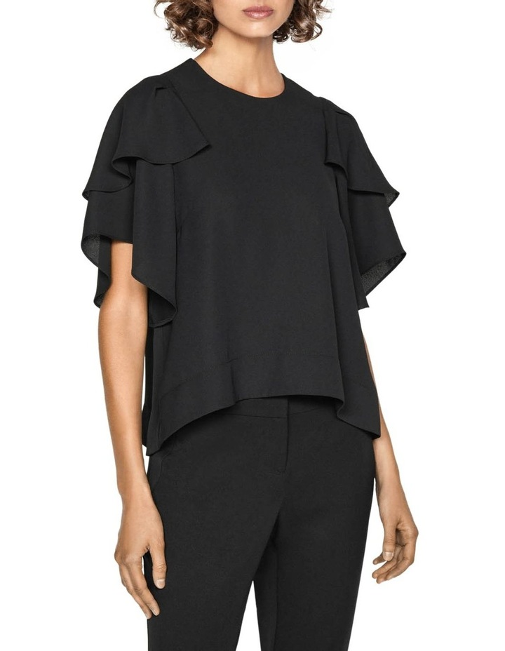 Fluted Cape Sleeve Top image 2