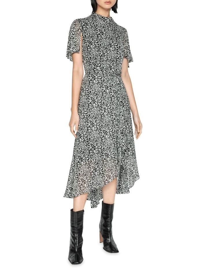 Abstract Spot Draped Waist Dress image 1