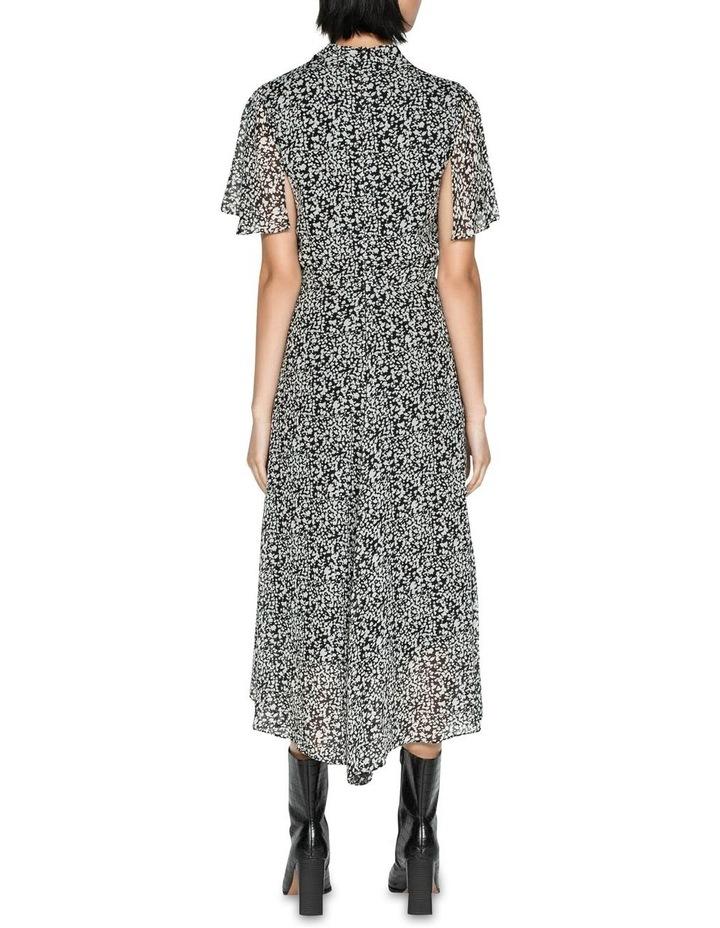 Abstract Spot Draped Waist Dress image 2